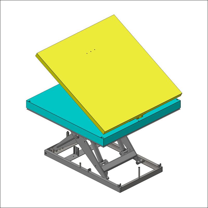 plateau basculant pour table élévatrice