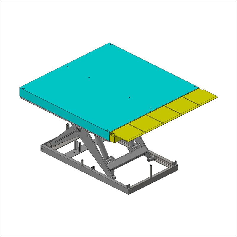 Pont de liaison manuel pour table élévatrice