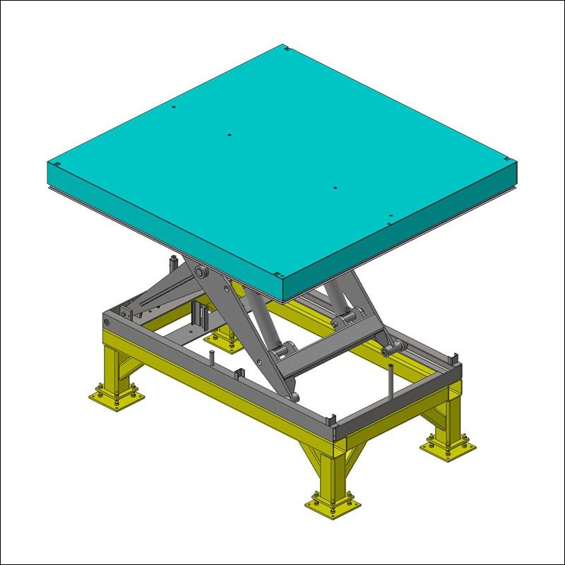 chassis de calage pour table élévatrice