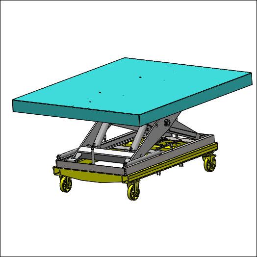 chassis roulant pour table élévatrice