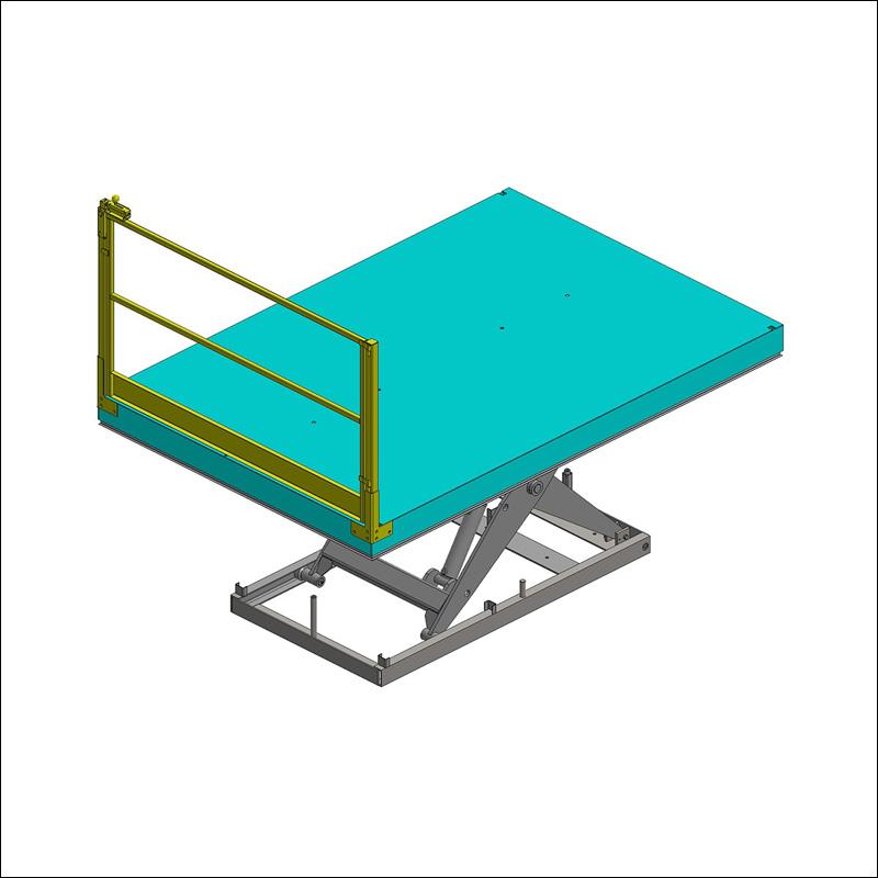 portillon simple ventail pour table élévatrice