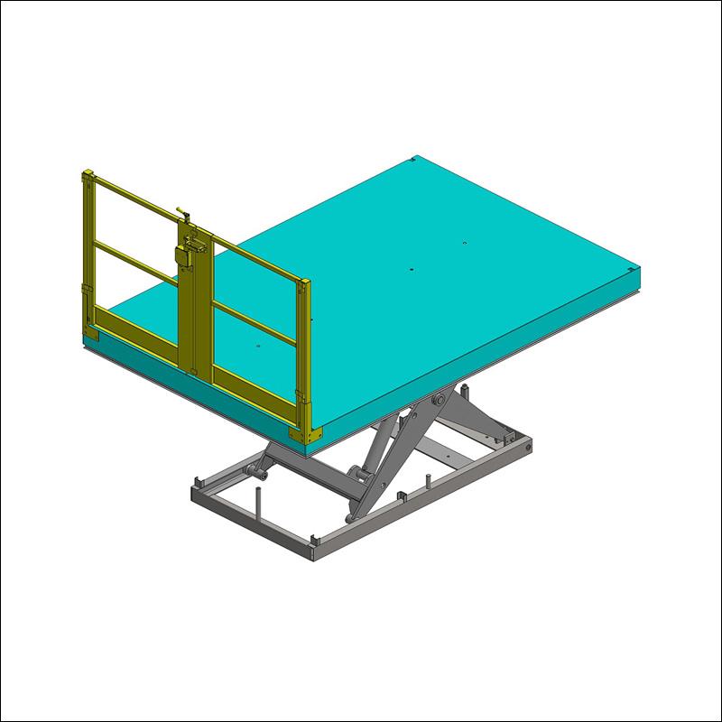 portillon double ventaux pour table élévatrice