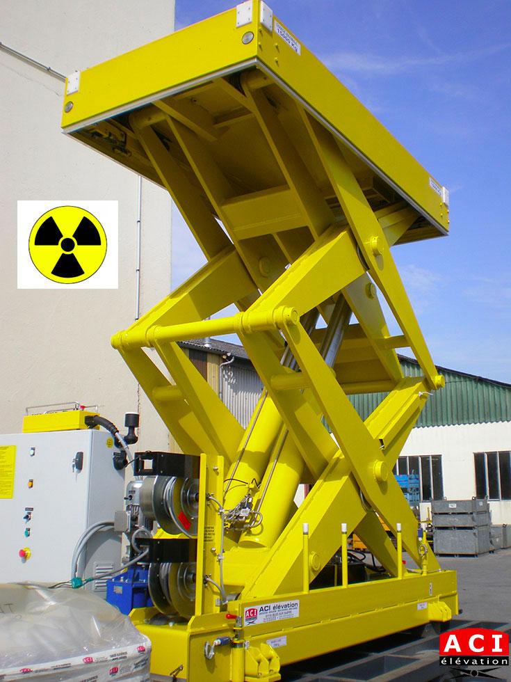 Table élévatrice 15 tonnes environnement nucléaire