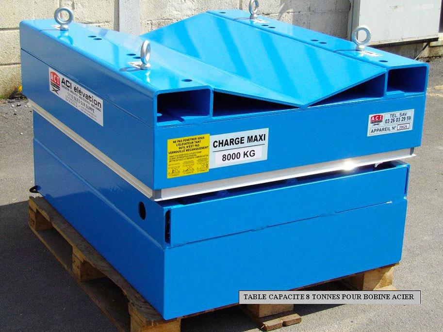 Table élévatrice 8 tonnes pour bobine acier